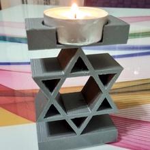 David Estrela vela interior luz amar candelabro lustre