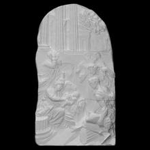 natividad adoración pastores escanear bebé hembra escultura niño caliza Iglesia masculino Biblia escena alivio Cristo Virgen pastores