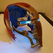 Rächer Endspiel Helm Requisiten Cosplay gebrochen Spiel Helm Wunder Film Disney Farbe Eisen Rächer Anhänger Instructables ramponiert destry