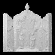 reliquaire triptyque saint traverser analyse Christian traverser or sculpture argent bois église 3dprint doré 3dscan saint Saint sculpté Mosan triptyque