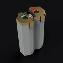 18650 battery box indicator free holder box easy fast geometric handle storage battery vape maker cyberpunk 18650 vaping indicator render