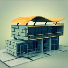 Erfinder funktioniert Haus Modell Sourbh