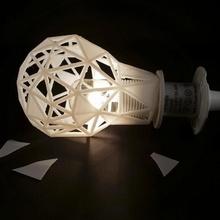 frantumato sfaccettato luce paralume lampada luce lampadina lowpoly sfaccettato ikea hack