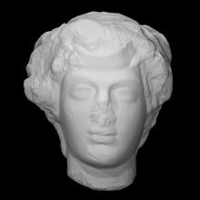 cabeça Dionísio Varredura cara cabeça homem retrato fragmento Dionísio
