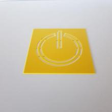 Leistung Symbol Schablone Schablone Leistung Quilten Kreuz nähen sprühen Farbe Leistung Symbol
