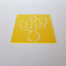 USB Symbol Schablone USB Schablone Quilten Kreuz nähen sprühen Farbe USB Symbol