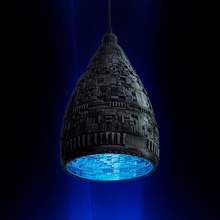 sci fi luminária sombra jardim estrangeiro decoração futurista luminária iluminação sci fi sombra Estrela tecnologia guerras Estrela Morte vivo Prometeu