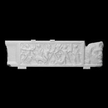 sarcófago cobrir bainha representação dionisíaco thyasus Varredura cobrir bainha sarcófago Dionísio thyasus