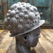 bubble hat fashion hat cap head lid man wearable woman wear flexible sculpt large sculpted clothes men's dreads bubbles unisex bun dreadlocks