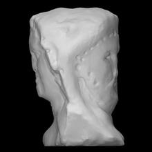 Duplo herm cabeça Dionísio sátiro Varredura cara cabeça retrato estátua mármore sátiro Duplo fauno herm Dionísio