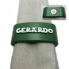 gerardo 3d napkin ring daisy customizable personalized daisy napkinring names personalizados nombres servilleteros margarita gerardo