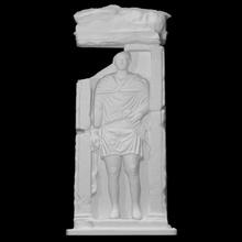 Zenturio Stele Scan Skulptur Soldat Krieger Kalkstein Dolch Linderung Ast Zenturio Ranke Stele Beerdigung Memorandum