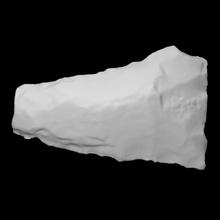bifaz coads 130b 114 escanear Roca rock proyectil punto arqueología Delaware antropología bifaz