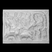 alivio representando natividad escanear cristiandad escultura mármol alivio natividad