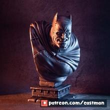 sombre Chevalier buste ventilateur art batman buste sombre héros Chevalier super héros super dc bandes dessinées ligue Justice 3 Wayne Bruce caché croisé