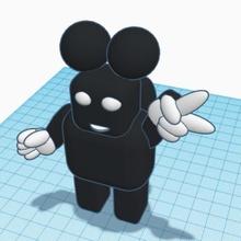 Mickey robot 5 1 tinkercad tikercharacters