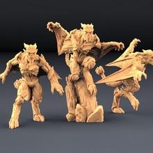 gárgolas completar conjunto mesa demonio murciélago oscuro dragones golem Maestro monstruo estatua Roca martillo guerra mago miniatura convocar calabozo gárgola d d alma gárgolas artesano gremio