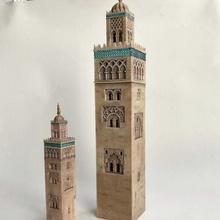 Koutoubia Minarett Marrakesch Marokko Afrika Architektur mittelalterlich Tempel Turm Arabisch Moschee Wahrzeichen Marokko torre Islam islamisch Marrakesch Marokko Mücke Moschee Marokko Minarett Marrakesch Minarett