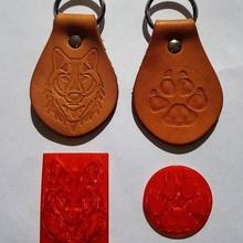 couro carimbo Diversão carimbo couro estampagem feito â mão couro