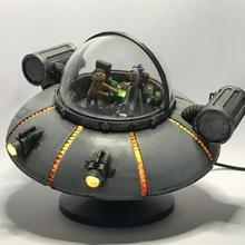 diy rick morty flying car led lights toys & games car cool diy led lights nerd prop saucer science ikea ufo fanart morty rick schwifty