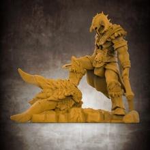 barbare dragon tueur 32mm échelle miniature table hache barbare dragon casque épée miniature base diorama jeu guerre éclaireur cornu double champ