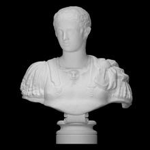Marcelo escanear busto cara cabeza hombre retrato escultura mármol joven Nápoles Marcelo