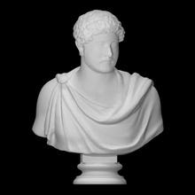 Adriano scansione fallimento viso testa uomo ritratto romano scultura statua imperatore maschio napoli Adriano