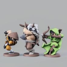rpg eroi impostato 02 tavolo arciere barbaro personaggi fantasia mini miniature monaco rpg scultura guerriero sla dlp tavolo eroi minis ranger dnd