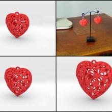 broken heart earring jewellery heart hearts voronoi