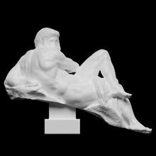 giorno michelangelo scansione uomo scultura statua tomba marmo Rinascimento michelangelo Firenze Italia nudo allegoria san lorenzo medici chapel giuliano de medici