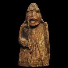 lewis chessman - warder scan board chess culture figure game history man piece scotland tower island lewis chessmen chessman uncovered warder isle