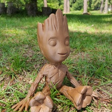sitting smiling baby groot smoothed solidified reinforced baby galaxy marvel  wood avengers pla groot sitting  iamgroot  universe petg smiling racoon gaurdians reinforced smoothed solidified