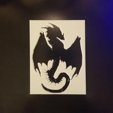 Drachen Schablone Silhouette Drachen Airbrush Schablone Verliese Drachen Kunsthandwerk Sprühfarbe