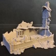 détruit maison 2 xviii xx période table figurine maison miniature ww2 diorama jeu guerre Empire ruiner détruit