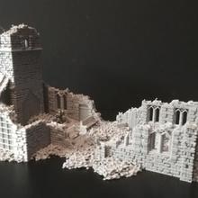 église ruiner xviii xx période table action boulon figurine église ww2 diorama jeu guerre paysage ruiner