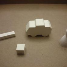 bloque bloque componentes empeñar juego mesa blocbybloc furgoneta antidisturbios