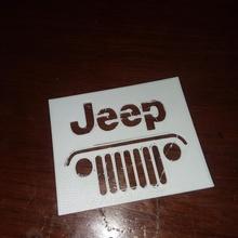 Jeep Schablone einfach Schablone Jeep