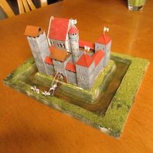 petit médiéval Château table bâtiment médiéval modèle modulaire tour wargaming miniature Château diorama chemin fer