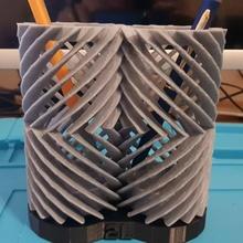 double helical gear pen holder cool pen fun gears  office pencil gear double organization organize helical organi