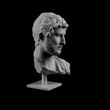 busto in marmo adriano incontrato york scansione