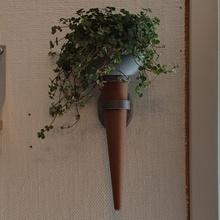 medieval antorcha plantador medieval planta maceta maceta madera plantador antorcha decoración colgar pared