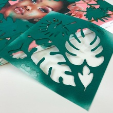 3d gedruckt Schablonen Selfcad Spielzeuge Spiele Kunst Branding Kaffee Malerei Illustration Schablone