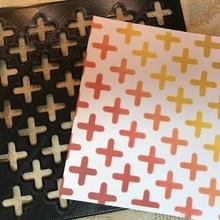 Schablone Kreuze Kreuz Farbe Schablone Papercraft