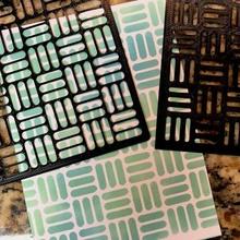 Schablone Korbgeflecht Spielzeuge Spiele Farbe Schablone Papercraft Korbgeflecht