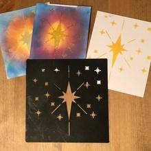Schablone sternenklar Nacht Spielzeuge Spiele Kunst Sterne Malerei Schablone Nacht Papercraft