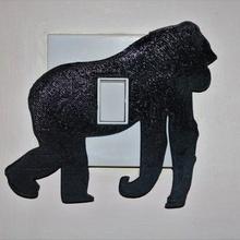 gorilla interruttore luce copertina guaina negozio animale arte Camera letto copertina guaina decorazione ragazzi luce scimmia semplice unico asilo gorilla uk interruttore luce interruttore scimmia arredamento mammifero ira