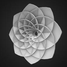 abstract a forma di fiore astratto bloom cerchio compley deco la decorazione figurativo floreale fiore la geometria goa goorve ivy martock modello non con la fantasia la pianta giro a forma di in frantumi statua sole simbolo