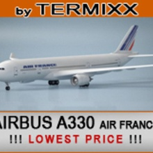 airbus a330 air france 200 300 330 3ds  a330 air airbus aircraft airline airliner airplane airways civilian commercial france jet model plane termixx