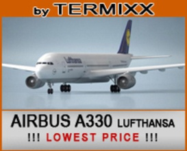 airbus a330 lufthansa 200 300 330 3ds  a330 air airbus aircraft airline airliner airplane airways civilian commercial jet lufthansa model plane termixx