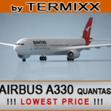airbus a330 qantas 200 300 330 3ds  a330 air airbus aircraft airline airliner airplane airways civilian commercial jet model plane qantas termixx